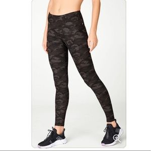FABLETICS Camo Leggings Full Length Size Small